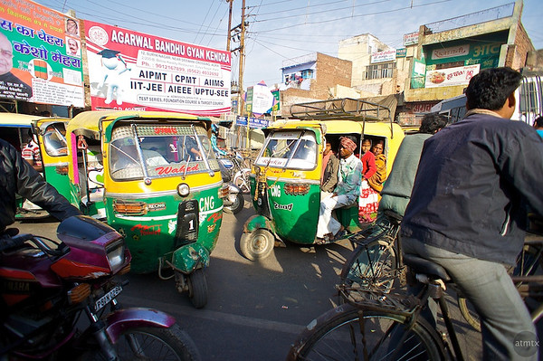 Indian Traffic Jam - Agra, India