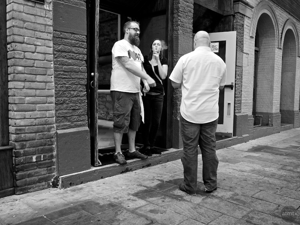 Smoke Break, 6th Street - Austin, Texas