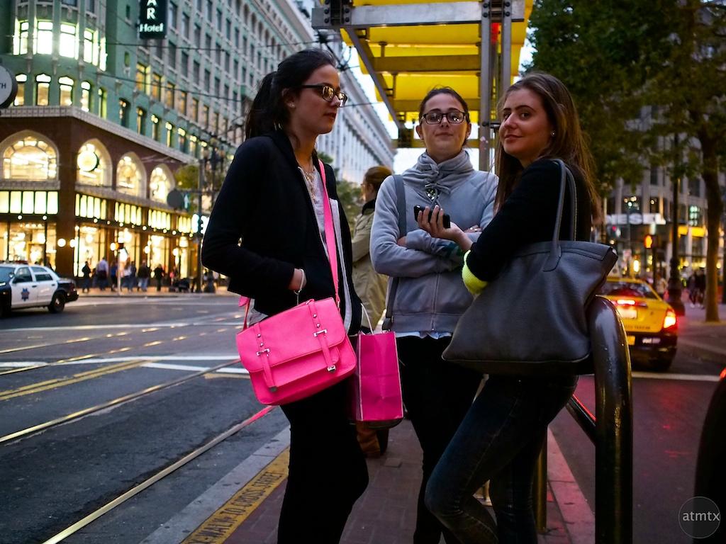 Waiting for the Tram - San Francisco, California
