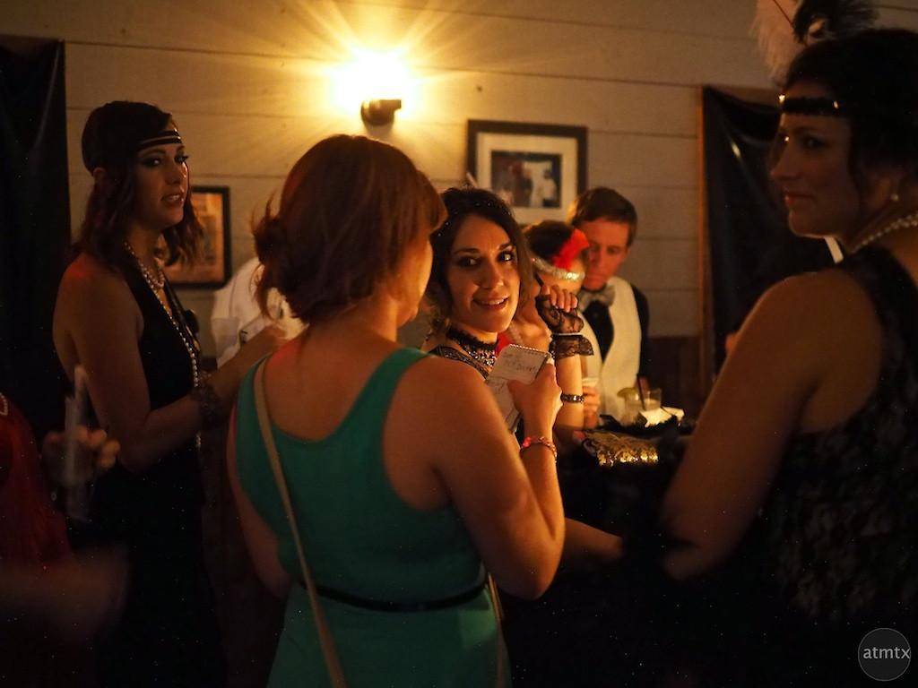 Solving a murder mystery, Javalina Bar - Austin, Texas