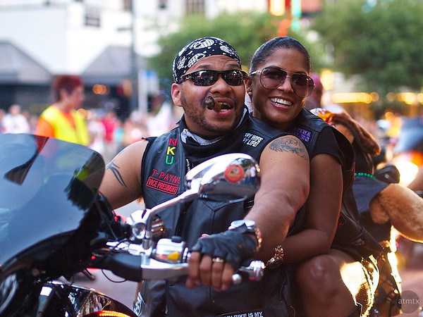Happy Couple, ROT Rally Parade - Austin, Texas