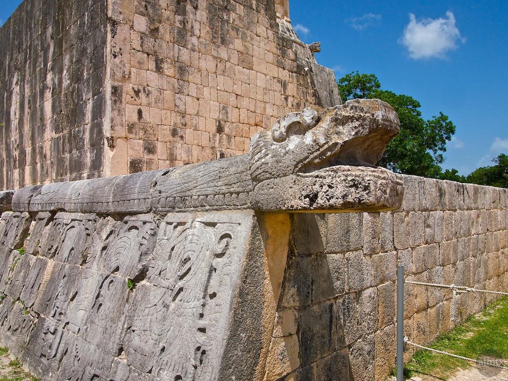 Stone Snake, Chichen Itza - Yucatan, Mexico
