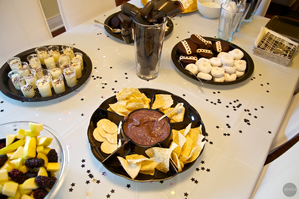 Black and White Snacks, Jake's Birthday Party - Austin, Texas