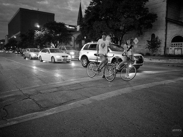 Bicycles on The Drag, University of Texas - Austin, Texas