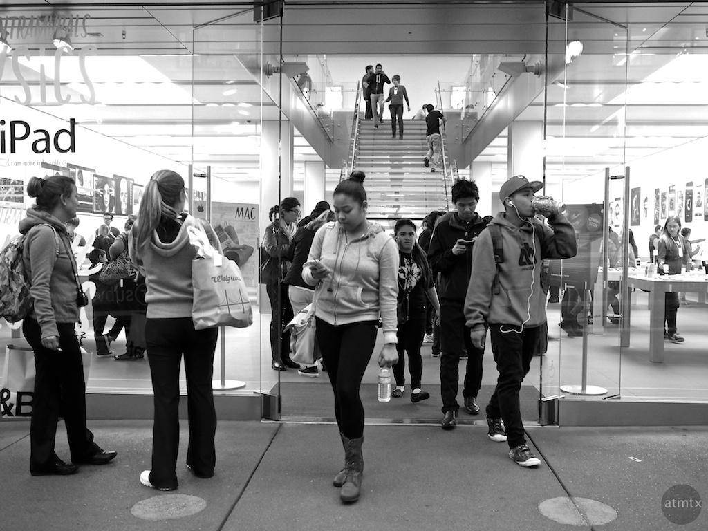 The Apple Store Hustle and Bustle - San Francisco, California
