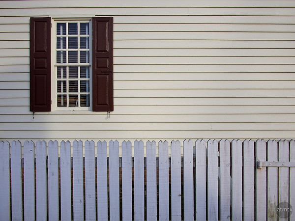 Pickets and Clapboard, Colonial Williamsburg - Williamsburg, Virginia