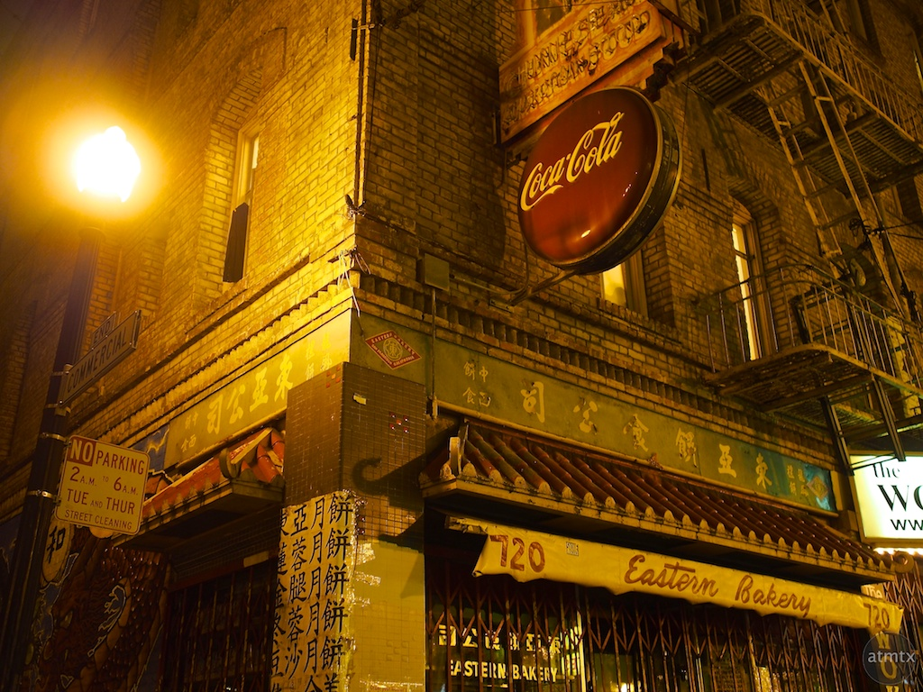 Coca Cola and the Street Light, Chinatown - San Francisco, California