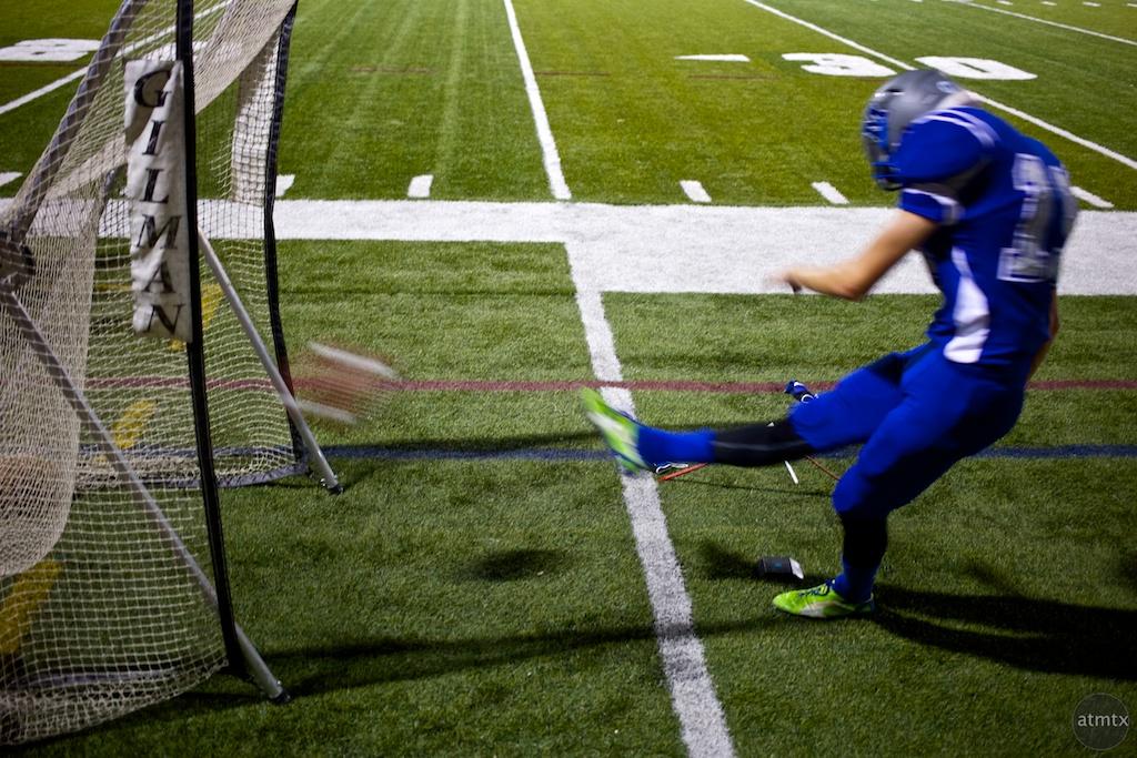 Kicking Practice, McCallum vs. Anderson - Austin, Texas