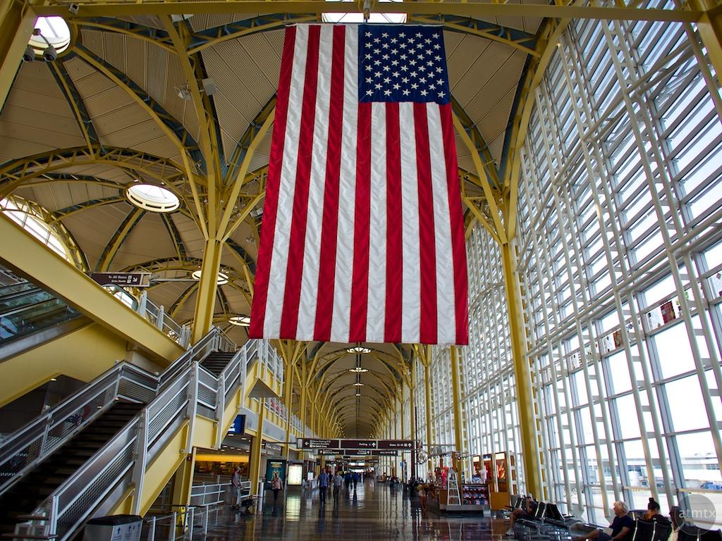 In wide-angle, Reagan Washington National Airport - Washington DC