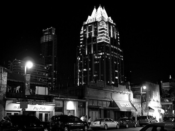 Frost Tower from 6th Street - Austin, Texas