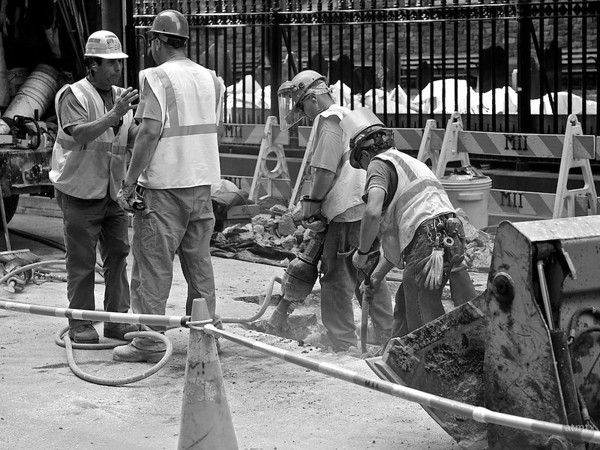 Men at Work, Lower Manhattan - New York, New York
