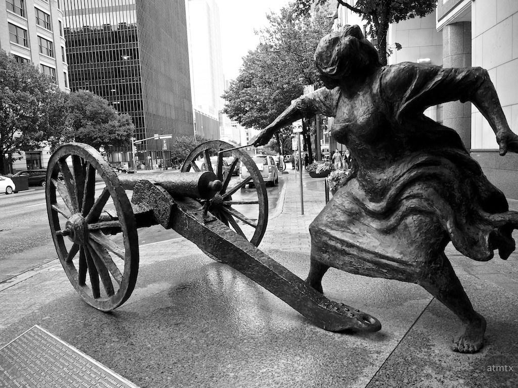 Angelina Eberly Statue - Austin, Texas