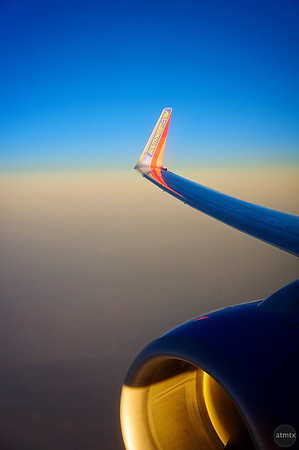 Engine and Wing, Southwest Airlines