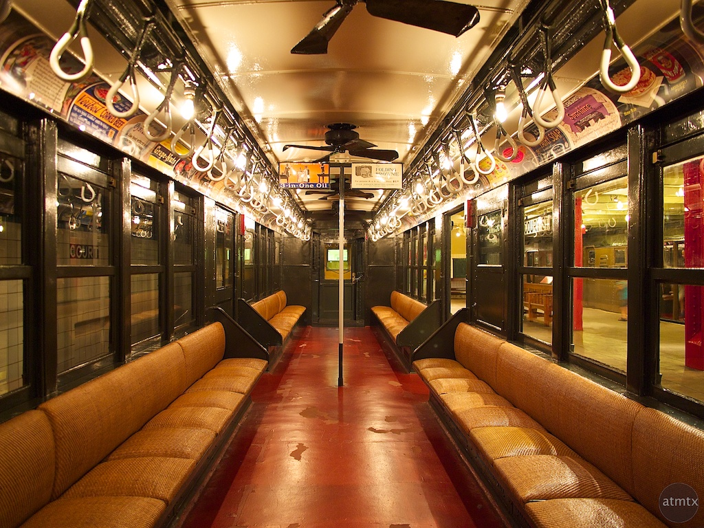 Interior, 1917 Lo-V Subway Car - Brooklyn, New York