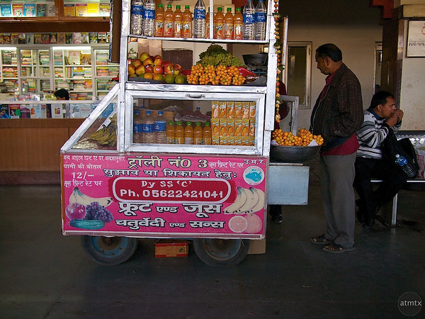 Food Vendor #2, Agra Cantt Station - Agra, India
