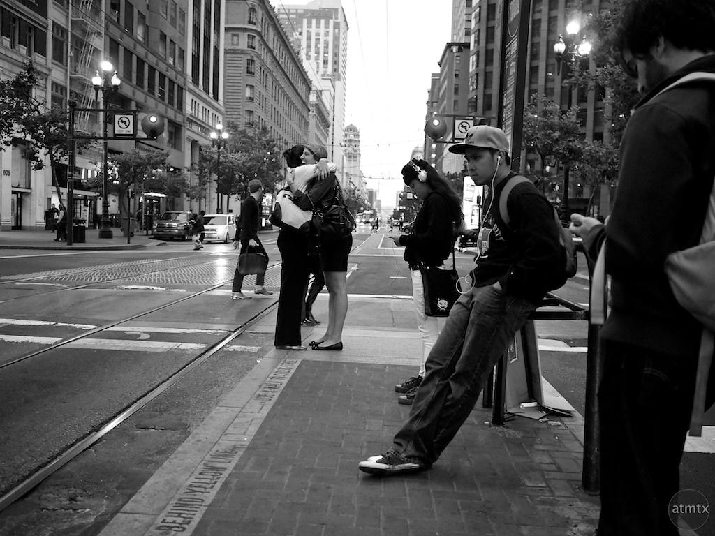 A Parting Hug, Market Street - San Francisco, California