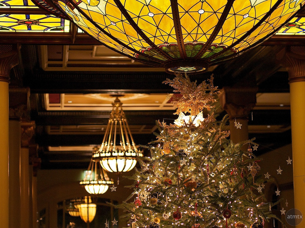 2011 Driskill Christmas Tree and Glass Dome