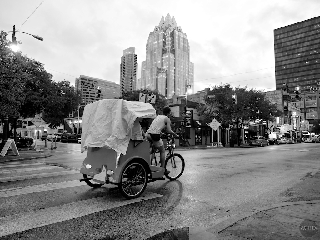 Covered Pedicab, 6th Street - Austin, Texas