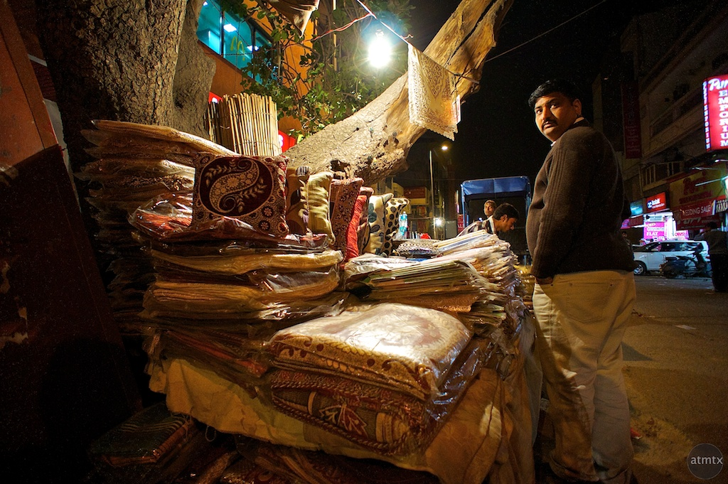 Rugs and Street Vendor - Delhi, India