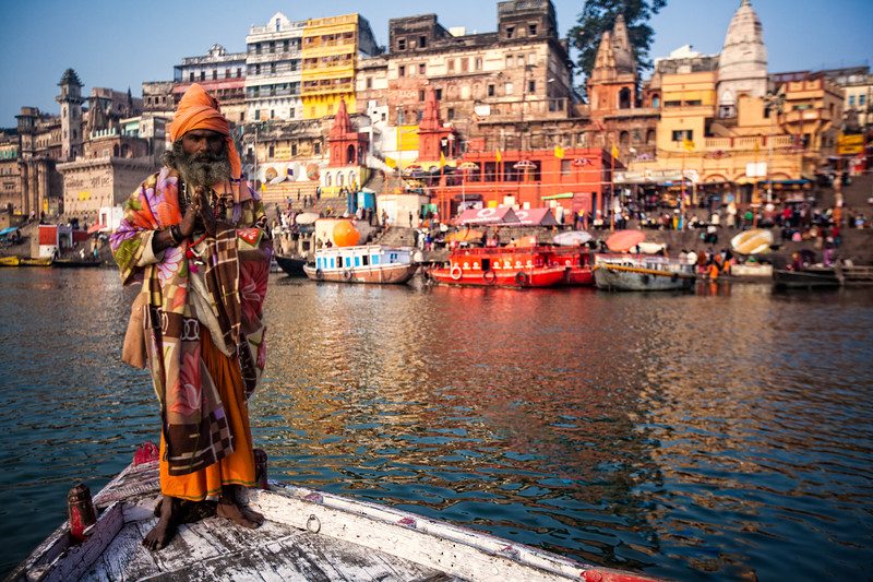 Sadhu on the Ganges (Varanasi, India 2015)