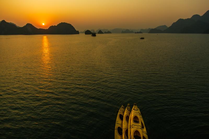 Sunrise over Ha Long Bay