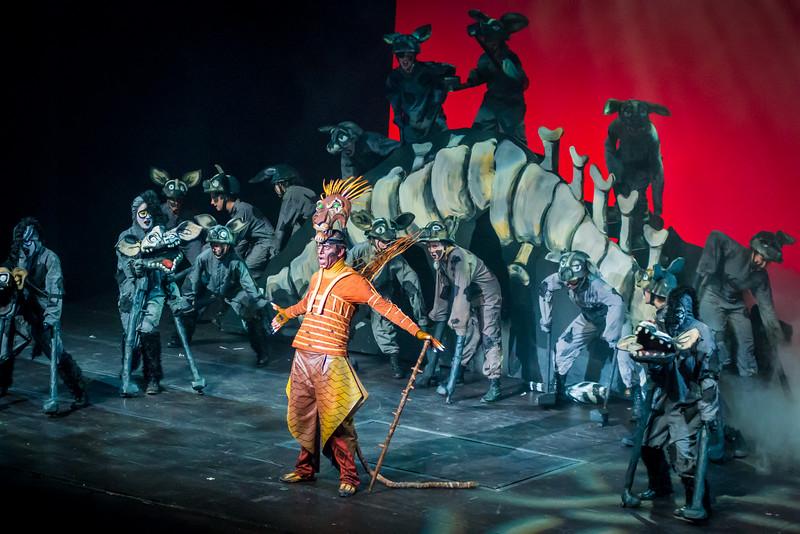 """Musical """"EL Rey León"""" en el Teatro del Lago."""
