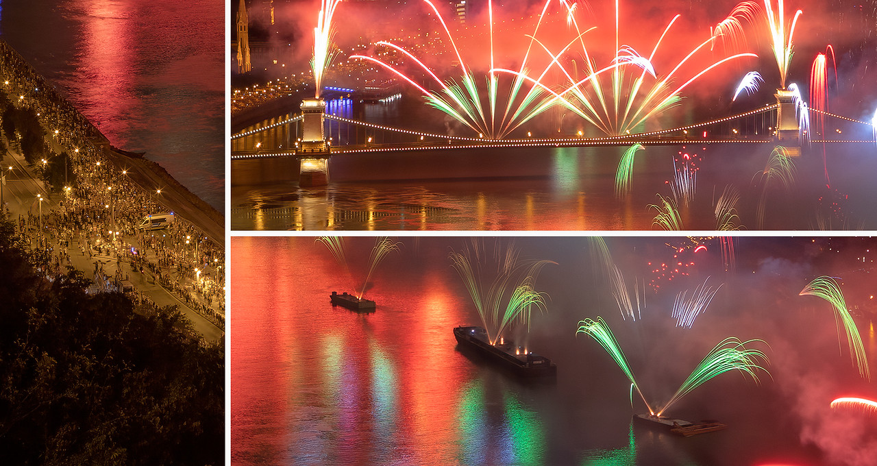 A very busy fireworks photo