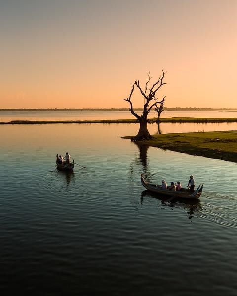 The Taungthaman Lake at Sunset (Amarapura, Myanmar 2013)