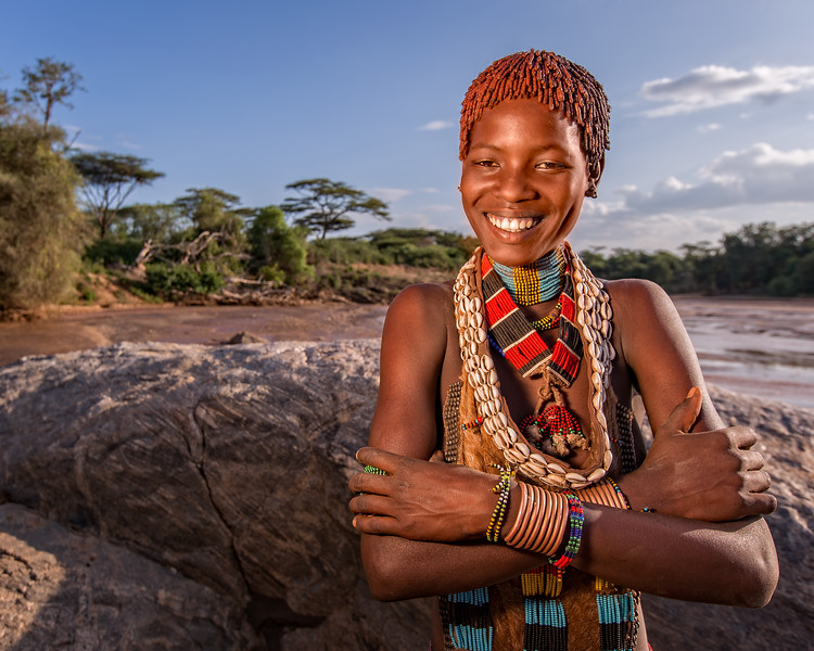 Young Hamer Woman at the Keske river crossing (Turmi, Ethiopia 2014)