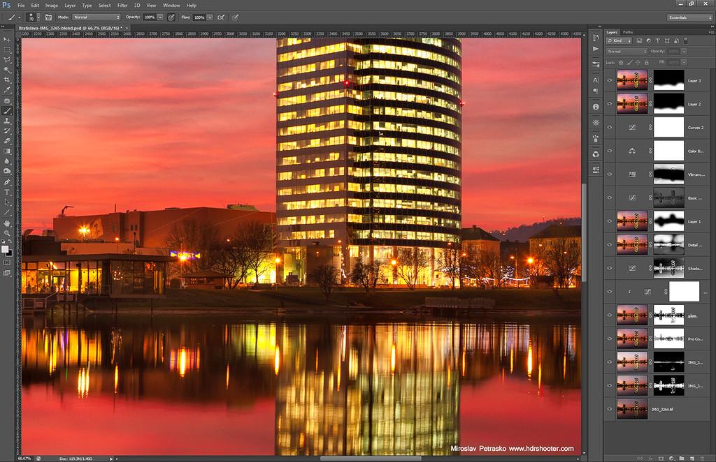 One autumn sunset - Process