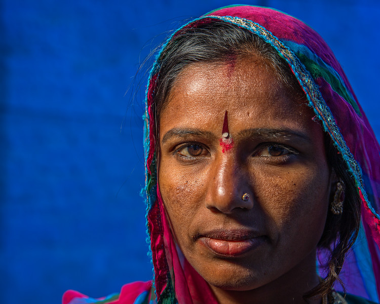 Portrait In the Blue City (Jodhpur, India 2015)
