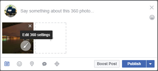 How to upload a 360 photo to Facebook