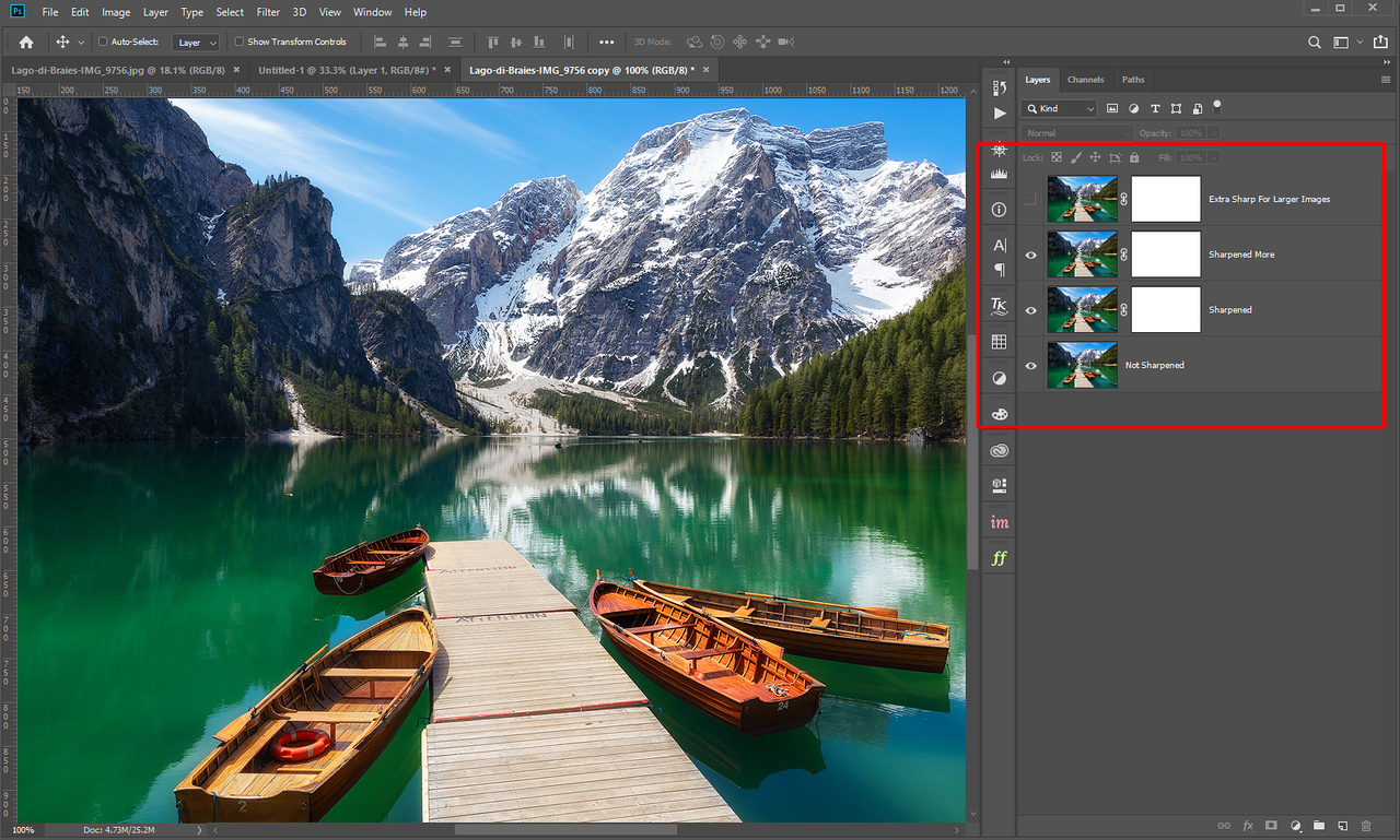 Sharpening photos for web with Raya Pro 4