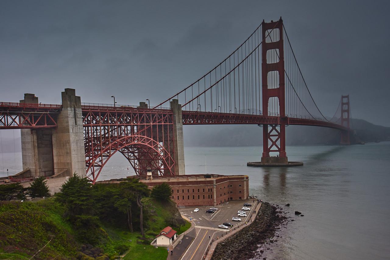 Golden Gate Bridge in the Mist