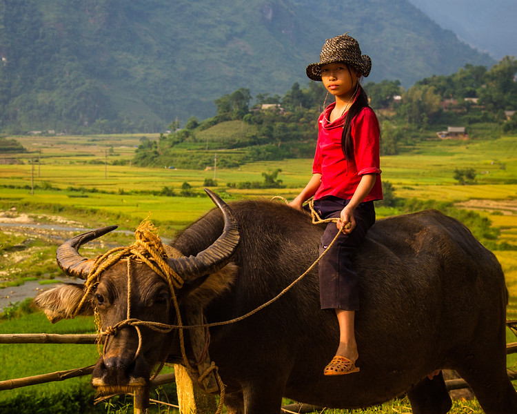 The Girl in Red (Lao Cai, Vietnam 2009)