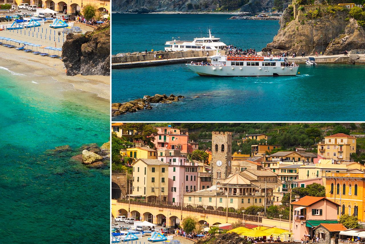 Sunny day in Monterosso, Cinque Terre, Italy