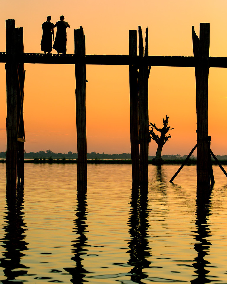 Reflections of the U Bein Bridge (Amarapura, Myanmar 2013)