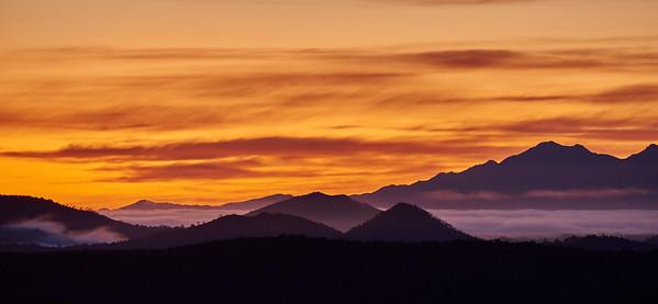 Sunset over Queenstown