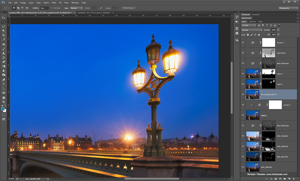 Lamp on the bridge