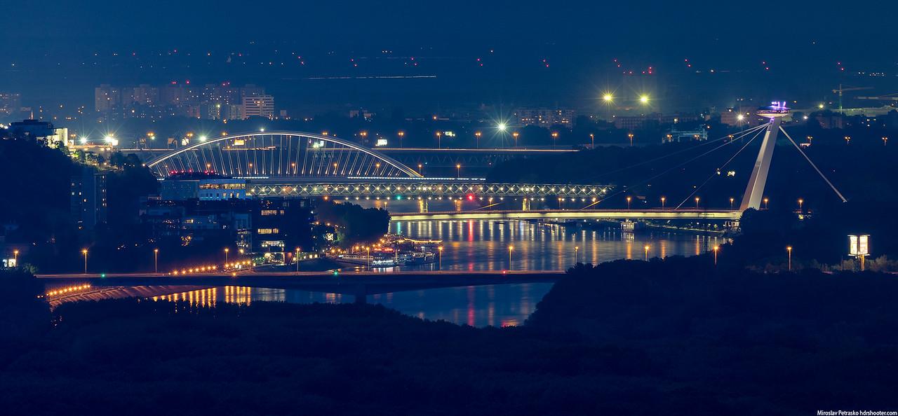 All the bridges in Bratislava