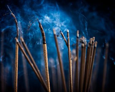 Incense Burning at the Thien Mu Pagoda (Hue, Vietnam 2009)