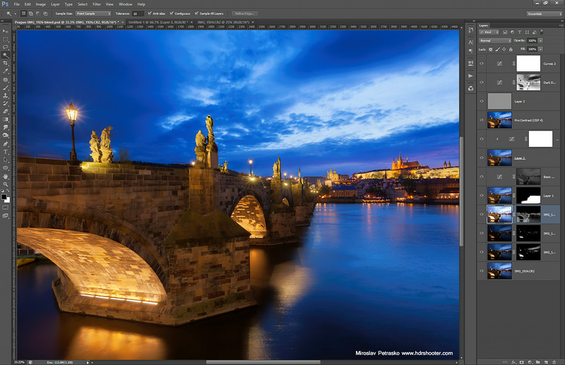 Blue hour at the Charles Bridge