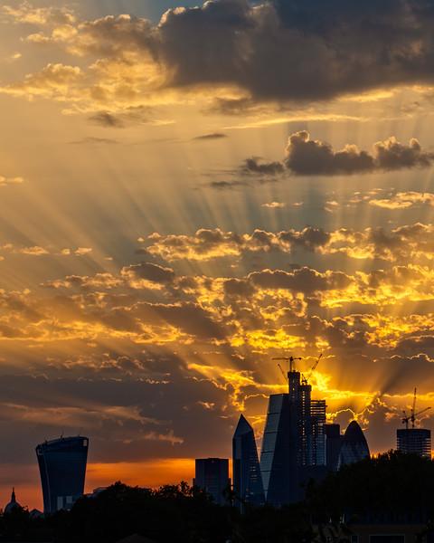Sunset over the City (London, United Kingdom 2018)