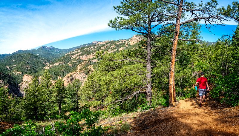 Hiking up Cheyenne Cañon (Colorado Springs, USA 2019)