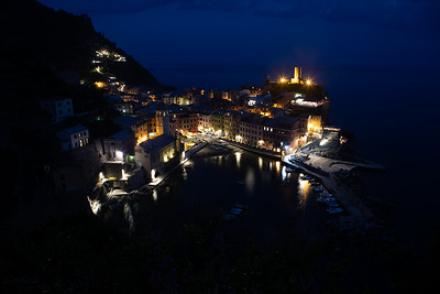 Evening overlooking Vernazza