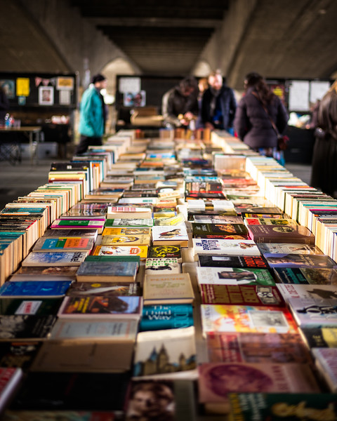 Waterloo Bridge Book Market (London, United Kingdom 2017)