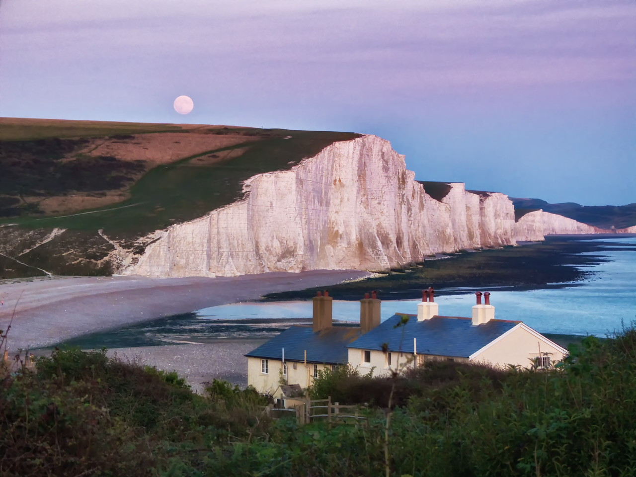 Moon over the Seven Sisters
