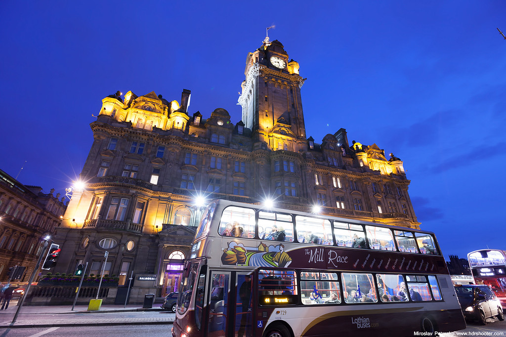 The bus in Edinburgh
