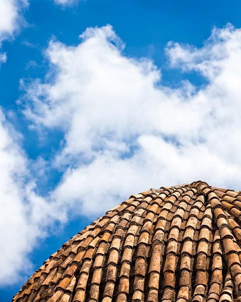 The dome of  Santa Ana's church (Sella, Spain 2014)