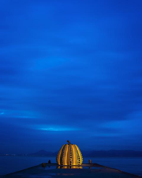 Yayoi Kusama's Yellow Pumpkin (Naoshima Island, Japan 2015)